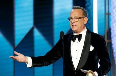 Jan 5, 2020; Beverly Hills, CA, USA; Tom Hanks accepts the Cecil B. DeMille Award during the 77th Annual Golden Globe Awards at The Beverly Hilton Hotel. Mandatory Credit: Paul Drinkwater/NBC Handout Photo via USA TODAY NETWORK