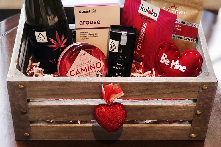 Valentine's Day basket at The Leaf El Paseo The Leaf El Paseo Valentine Basket