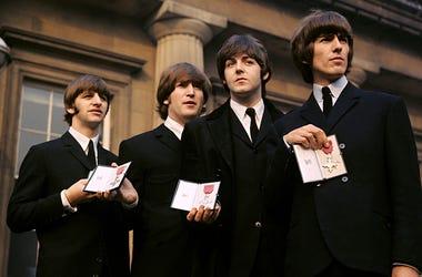 Ringo Starr, John Lennon, Paul McCartney and George Harrison of The Beatles