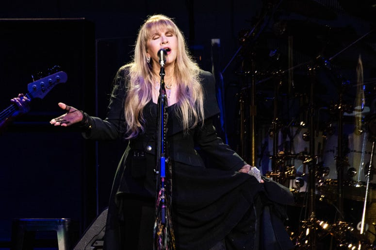 Stevie Nicks of Fleetwood Mac performs onstage at The SAP Center on November 21, 2018 in San Jose, California.