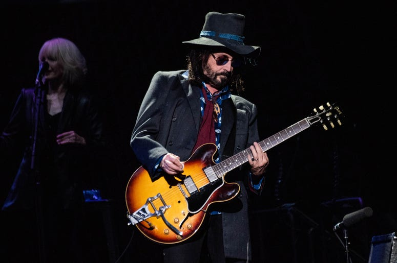 MIke Campbell of Fleetwood Mac performs onstage at The SAP Center on November 21, 2018 in San Jose, California.