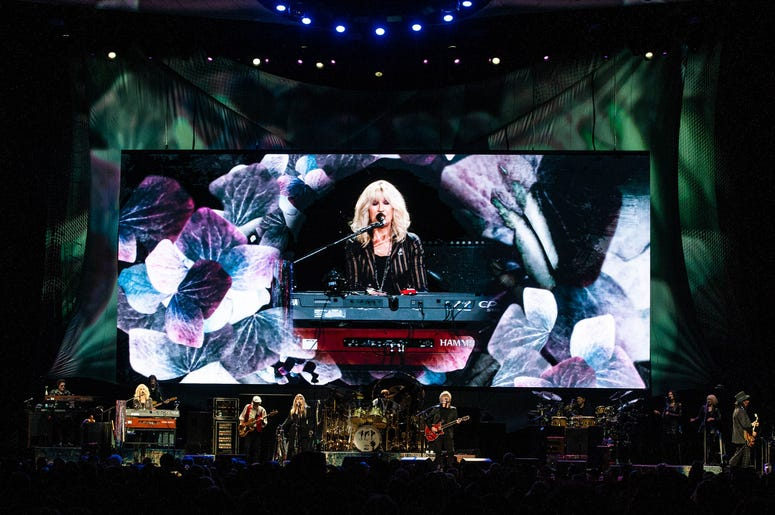 Fleetwood Mac performs onstage at The SAP Center on November 21, 2018 in San Jose, California.