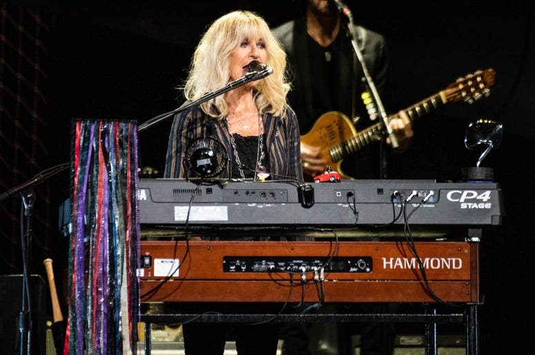 hristine McVie of Fleetwood Mac performs onstage at The SAP Center on November 21, 2018 in San Jose, California.