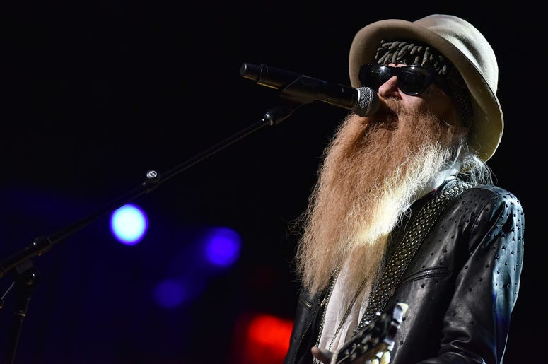 Musician Billy Gibbons performs during the 3rd Annual LOVE ROCKS NYC concert at the Beacon Theatre in New York, NY, March 7, 2019.