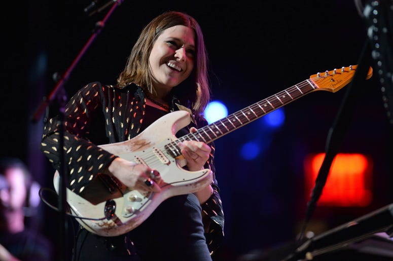 Musician Rebecca Lovell of Larkin Poe performs during the 3rd Annual LOVE ROCKS NYC concert at the Beacon Theatre in New York, NY, March 7, 2019.