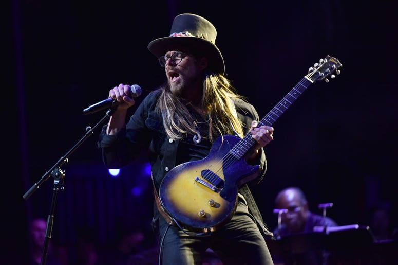 Musician Lukas Nelson performs during the 3rd Annual LOVE ROCKS NYC concert at the Beacon Theatre in New York, NY, March 7, 2019. (