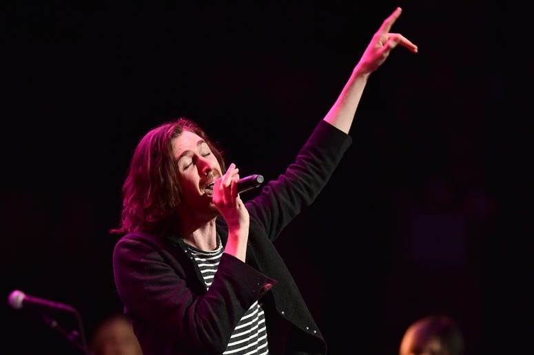Andrew Hozier performs during the 3rd Annual LOVE ROCKS NYC concert at the Beacon Theatre in New York, NY, March 7, 2019.