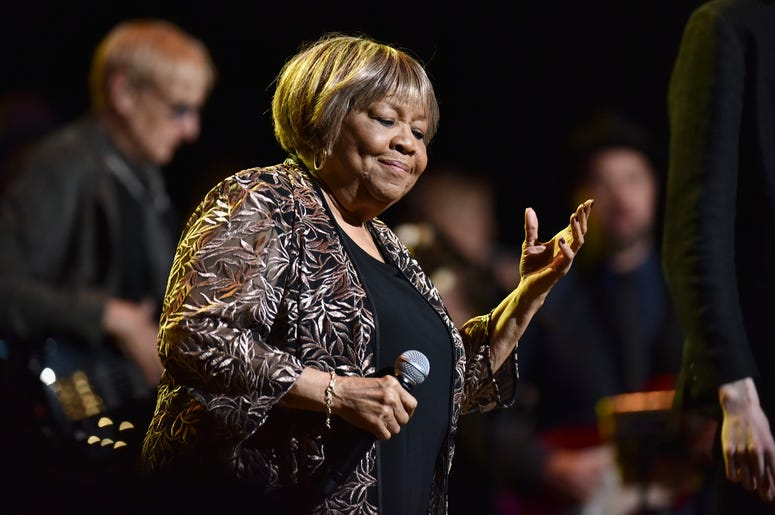 Singer Mavis Staples performs during the 3rd Annual LOVE ROCKS NYC concert at the Beacon Theatre in New York, NY, March 7, 2019.