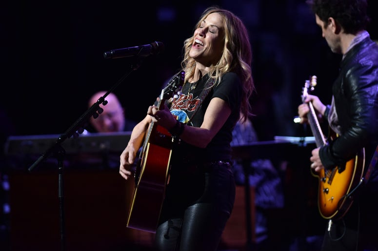 Musician Sheryl Crow performs during the 3rd Annual LOVE ROCKS NYC concert at the Beacon Theatre in New York, NY, March 7, 2019.
