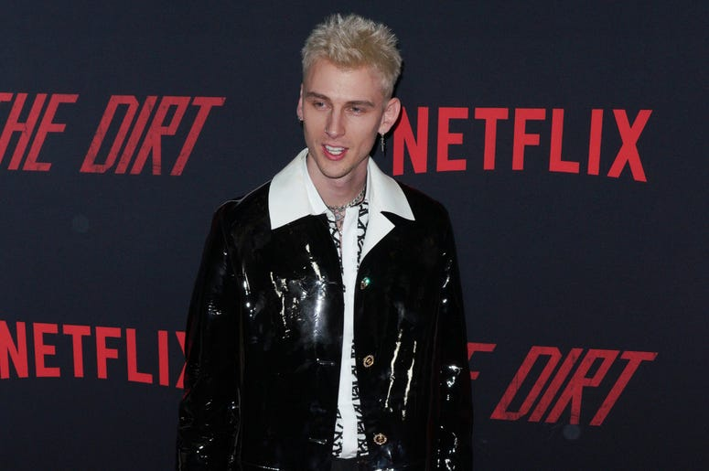 Machine Gun Kelly at Los Angeles Premiere Of Netflix's 'The Dirt' held at The ArcLight Hollywood - Cinerama Dome on March 18, 2019 in Hollywood, CA