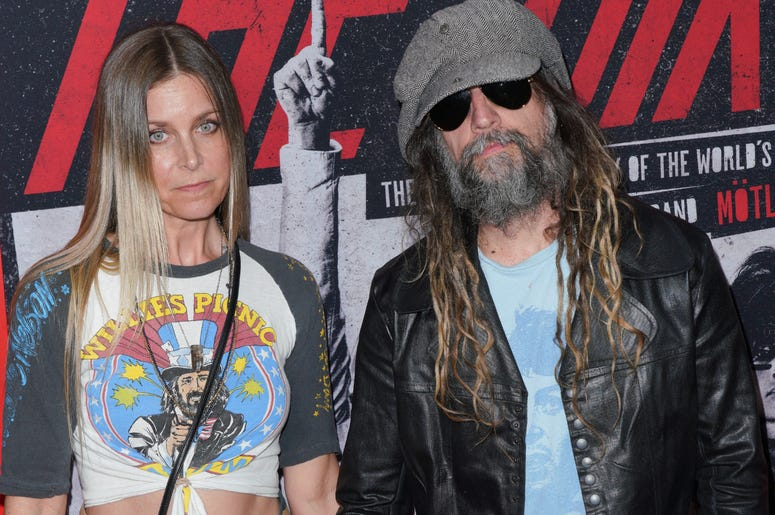 Sheri Moon Zombie and Rob Zombie at Los Angeles Premiere Of Netflix's 'The Dirt' held at The ArcLight Hollywood - Cinerama Dome on March 18, 2019 in Hollywood, CA