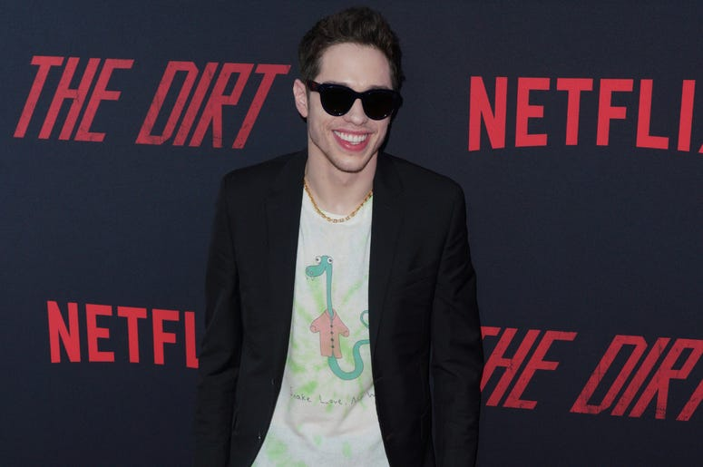 Pete Davidson at Los Angeles Premiere Of Netflix's 'The Dirt' held at The ArcLight Hollywood - Cinerama Dome on March 18, 2019 in Hollywood, CA