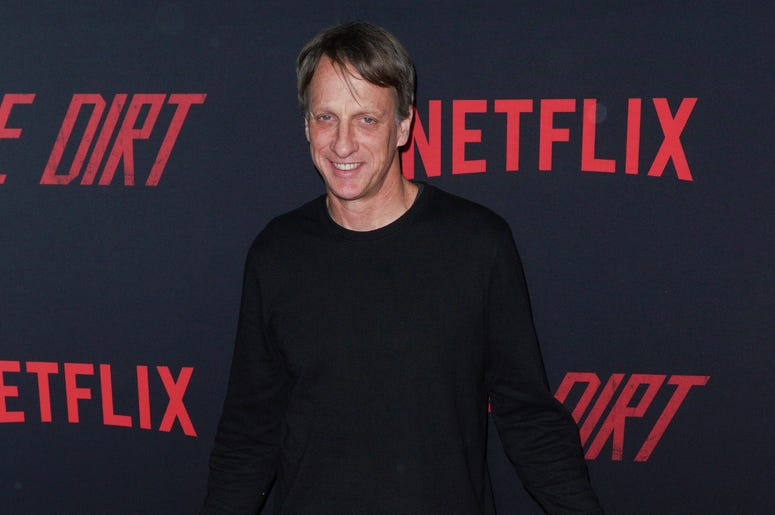Tony Hawk at Los Angeles Premiere Of Netflix's 'The Dirt' held at The ArcLight Hollywood - Cinerama Dome on March 18, 2019 in Hollywood, CA