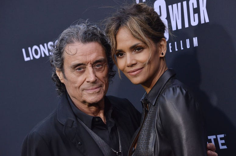 """(L-R) Ian McShane and Halle Berry at Lionsgate's """"John Wick: Chapter 3 - Parabellum"""" Los Angeles Special Screening held at the TCL Chinese Theater in Hollywood, CA on Wednesday, May 15, 2019."""