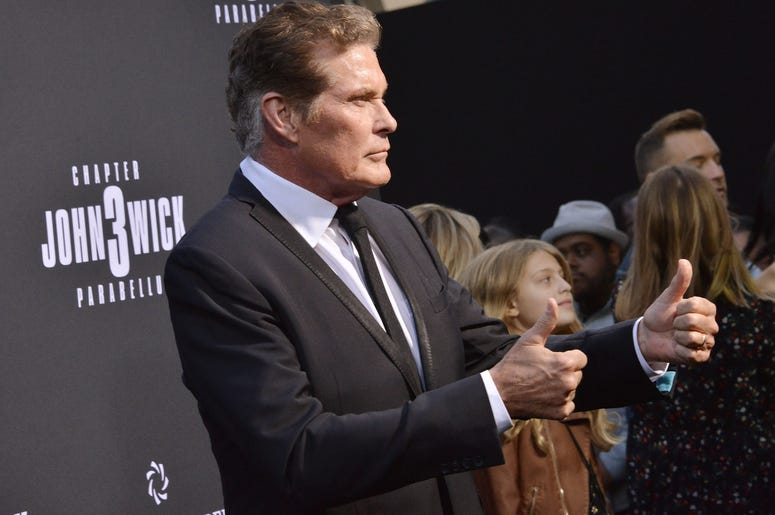 """David Hasselhoff arrives at Lionsgate's """"John Wick: Chapter 3 - Parabellum"""" Los Angeles Special Screening held at the TCL Chinese Theater in Hollywood, CA on Wednesday, May 15, 2019."""