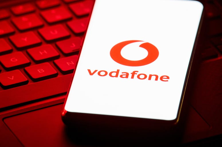 6/12/2019 - File photo dated 07/12/18 of the logo of mobile phone network Vodafone displayed on the screen of a smartphone. Vodafone customers can now make hands-free calls using Amazon Echo smart devices under their existing mobile plan, the operator has