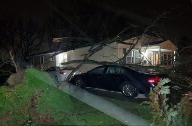 Storm damage on W. Mill St. in Medina, Ohio after the April 8th storms