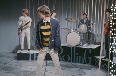 The Rolling Stones perform on a television show, October 1965