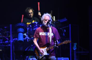 Original Grateful Dead members Bob Weir and Mickey Hart (drums) perform as part of Dead & Company at BB&T Center.