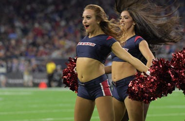 Houston Texans cheerleaders perform during the game against the Indianapolis Colts at NRG Stadium. The Texans defeated the Colts 20-17.