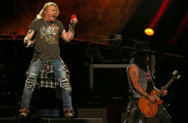 Axl Rose and Slash of Guns N' Roses