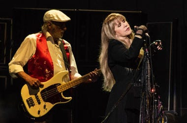 Stevie Nicks and John McVie of Fleetwood Mac perform onstage at The SAP Center on November 21, 2018 in San Jose, California.