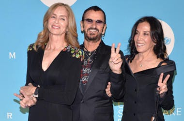(L-R) Barbara Bach, Ringo Starr and Olivia Harrison attend the UNICEF USA's 14th Annual Snowflake Ball at Cipriani Wall Street in New York, NY, on November 27, 2018.