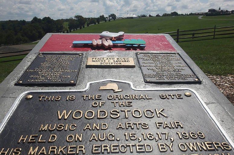 Woodstock plaque