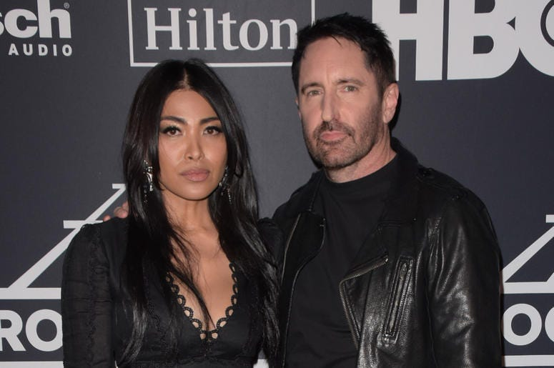 Trent Reznor, Mariqueen Maandi attend the 2019 Rock & Roll Hall Of Fame Induction Ceremony at Barclays Center on March 29, 2019 in Brooklyn, New York.