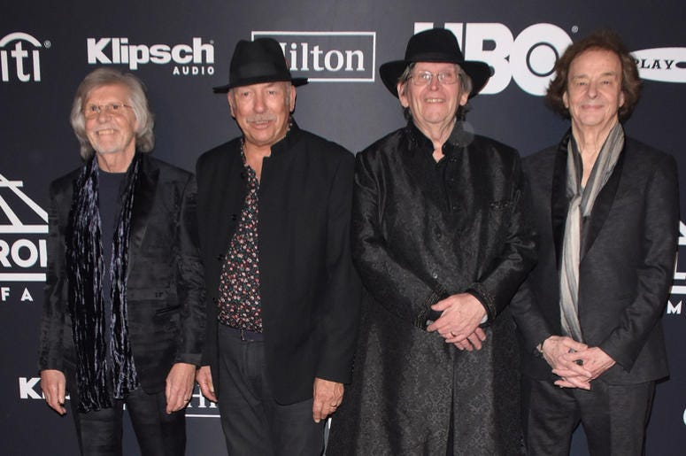 The Zombies attend the 2019 Rock & Roll Hall Of Fame Induction Ceremony at Barclays Center on March 29, 2019 in Brooklyn, New York. (