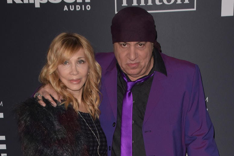 Maureen Van Zandt, Steven Van Zandt attend the 2019 Rock & Roll Hall Of Fame Induction Ceremony at Barclays Center on March 29, 2019 in Brooklyn, New York.