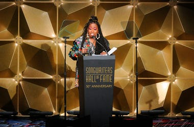 Missy Elliott speaks at the 50th annual Songwriters Hall of Fame induction and awards ceremony Thursday, June 13, 2019, in New York.