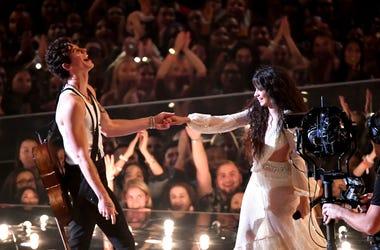 Camila Cabello and Shawn Mendes perform at the 2019 MTV VMAs