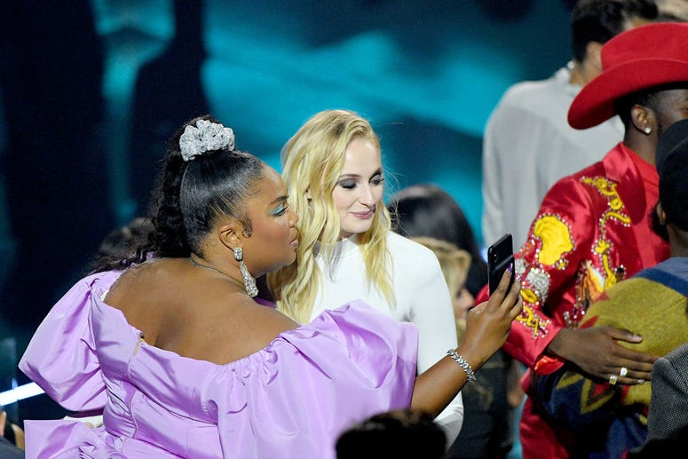 Lizzo and Sophie Turner at the 2019 MTV Video Music Awards at Prudential Center