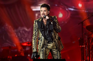 Adam Lambert on stage with Queen at Global Citizen Festival