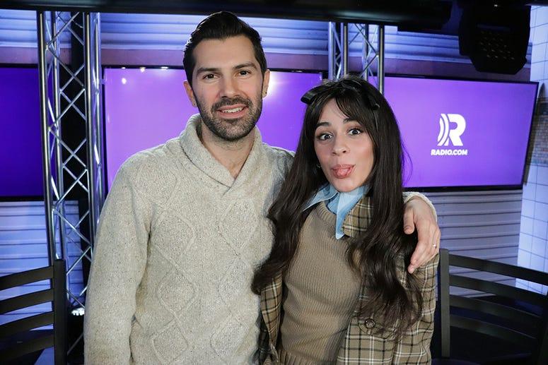 Camila Cabello with Mike Adam in the RADIO.COM Theater