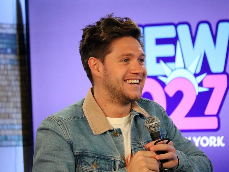 Niall Horan in the RADIO.COM Theater with NEW 102.7's Karen Carson