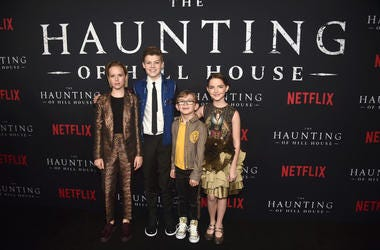 Lulu Wilson, Paxton Singleton, Julian Hilliard and Mckenna Grace attend the premiere of Neflix's 'The Haunting Of Hill House' at ArcLight Hollywood on October 8, 2018 in Hollywood, California