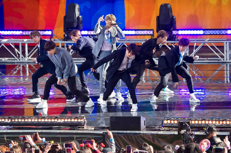 "BTS perform on ABC's ""Good Morning America"