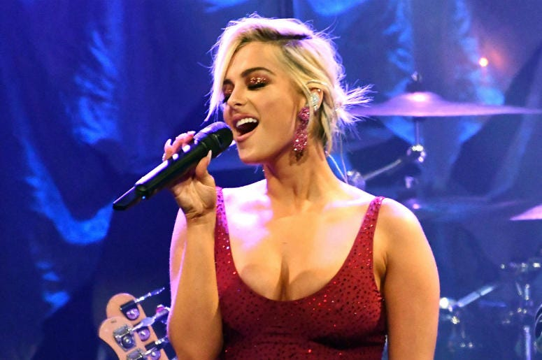 Bebe Rexha performs onstage as a special guest during The Recording Academy and Clive Davis' 2019 Pre-GRAMMY Gala Show