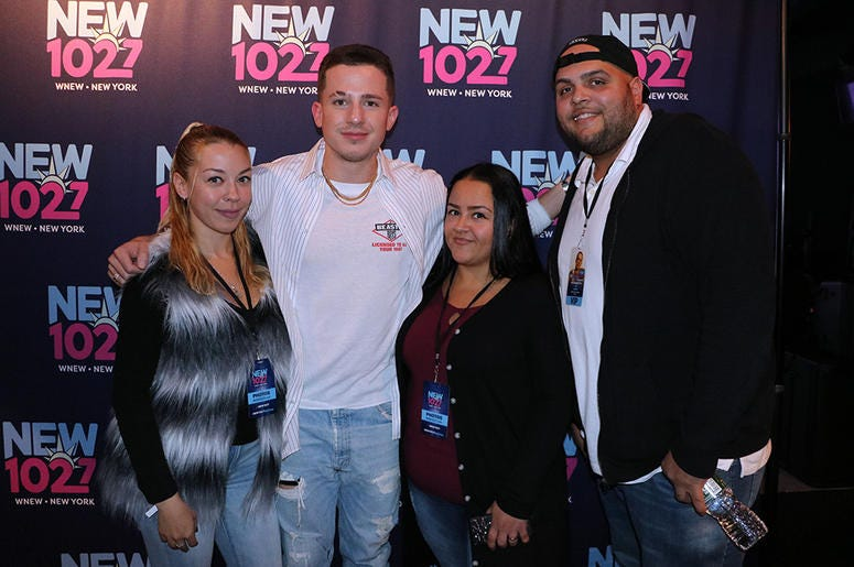 Charlie Puth meets fans in the RADIO.COM Theater at NEW 102.7's 'Up Close & Personal'