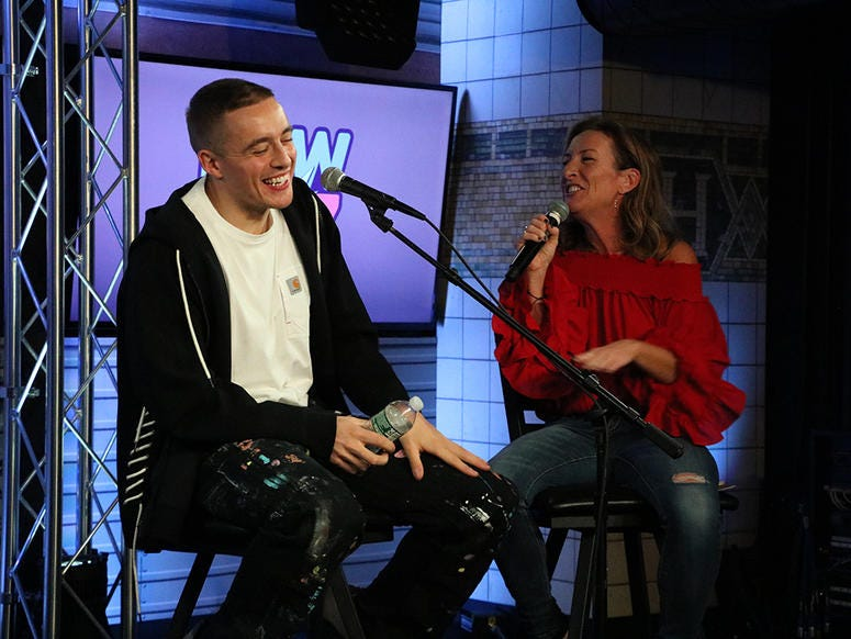 Dermot Kennedy in the RADIO.COM Theater with NEW 102.7's Karen Carson