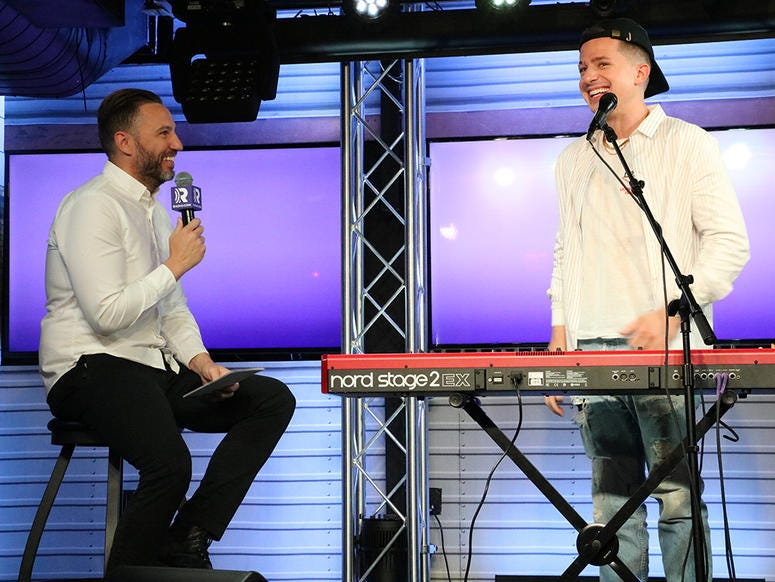 Trey Morgan with Charlie Puth at NEW 102.7 'Up Close and Personal'