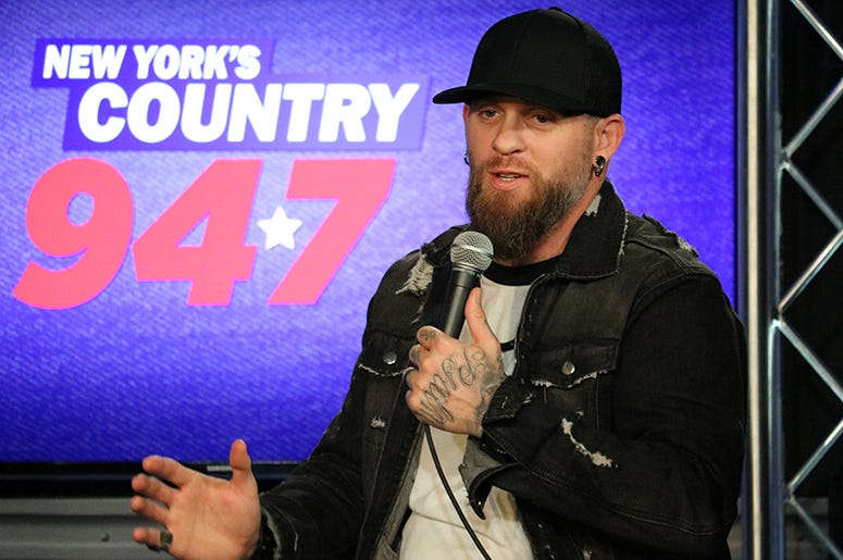 Brantley Gilbert in the RADIO.COM Theater with Jesse Addy