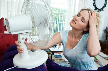 girl with air fan