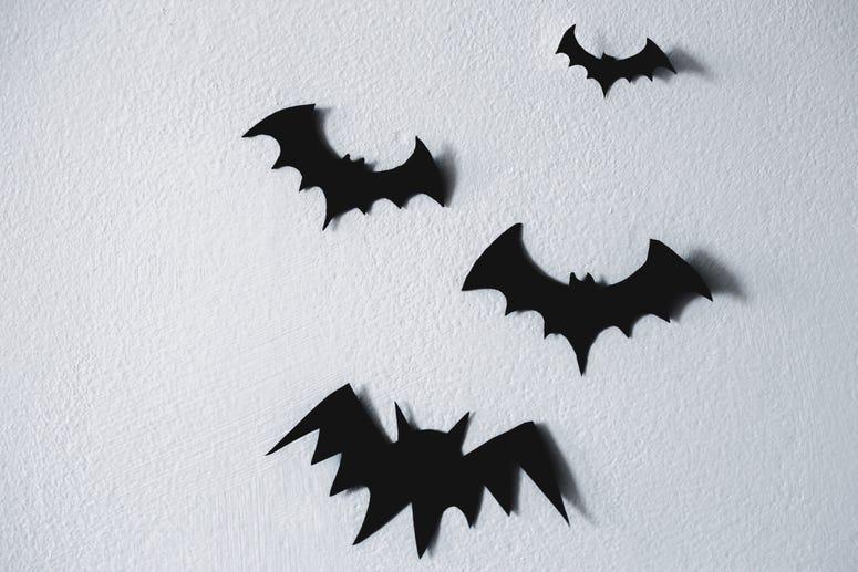 Paper Bats Halloween Decorations