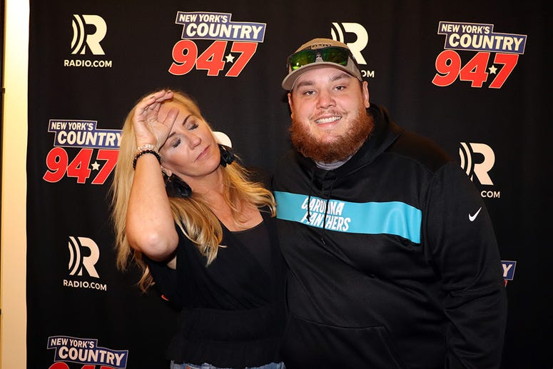 Luke Combs meets fans during 'Lunch with Luke' at New York's Country 94.7 on November 20, 2019.