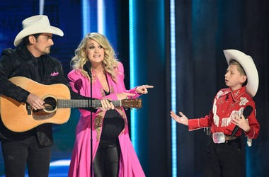 Brad Paisley and Carrie Underwood with Mason Ramsey