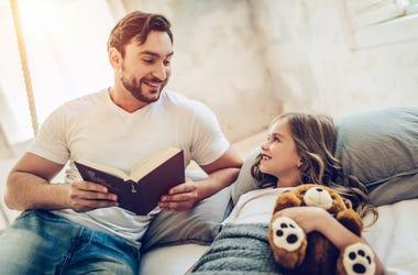 bedtime story dad daughter