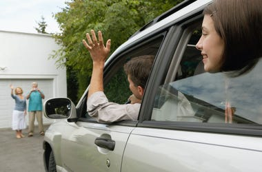 car waving